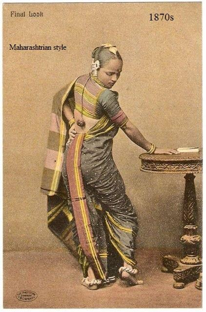 Indian wardrobe in 1860′s