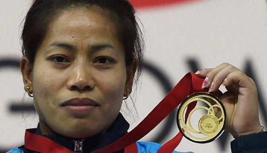 Lifters Sukhen Dey, Sanjita Chanu win gold