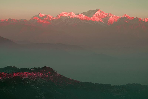 Sunrise over Darjeeling Hills