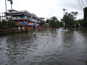 Floods continue to cause Mayhem in many villagesin Various Northern States of India