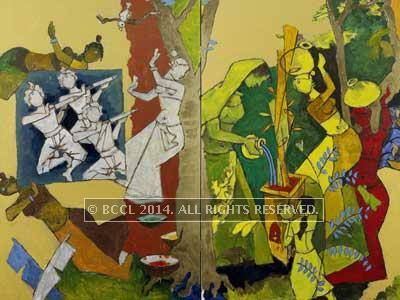 M.F. Husain, Traditional Indian Festivals, 2008-2011