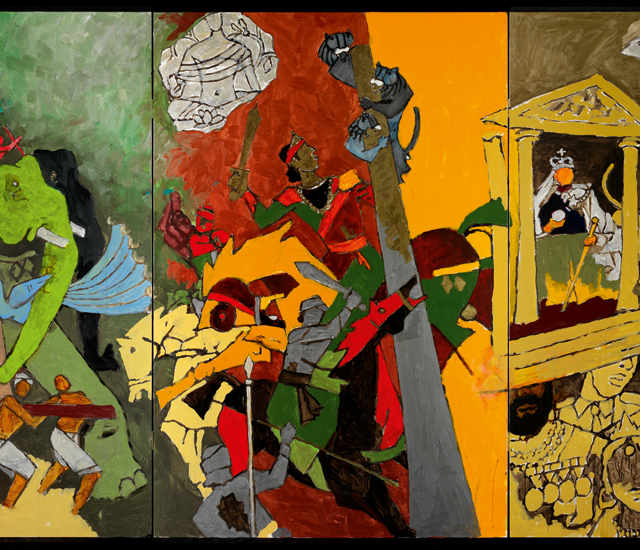 M.F. Husain, Three Dynasties, 2008-2011