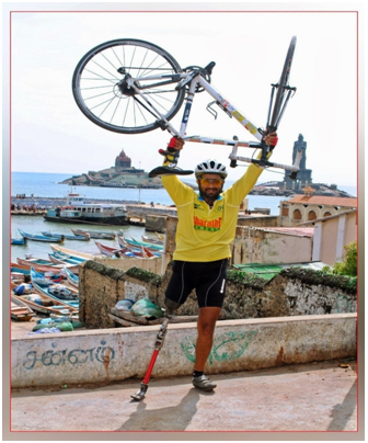 Cyclist who lost his leg inspires others by going on an Adventurous Expedition