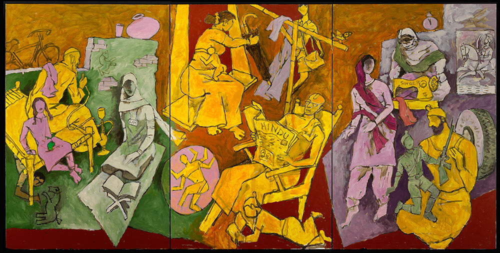 M.F. Husain, Indian Households, 2008-2011