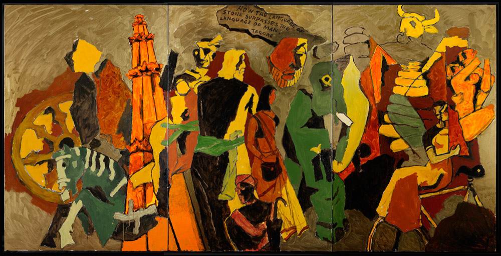 M.F. Husain, Language of Stone, 2008-2011