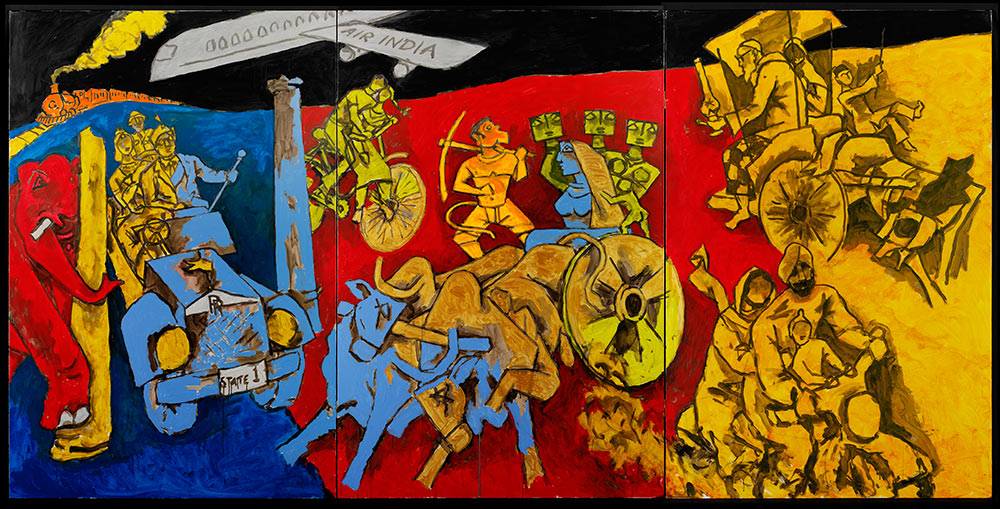 M.F. Husain, Modes of Transport, 2008-2011