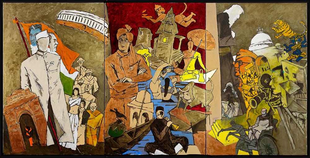M.F. Husain, Tale of Three Cities, 2008-2011