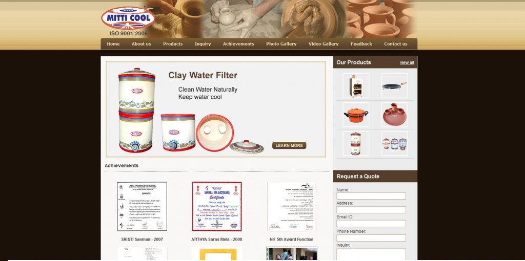 Mitticool – Innovative Products with Clay