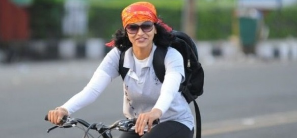 Sunitha's longest Cycling Expedition for Swachh Bharat Mission