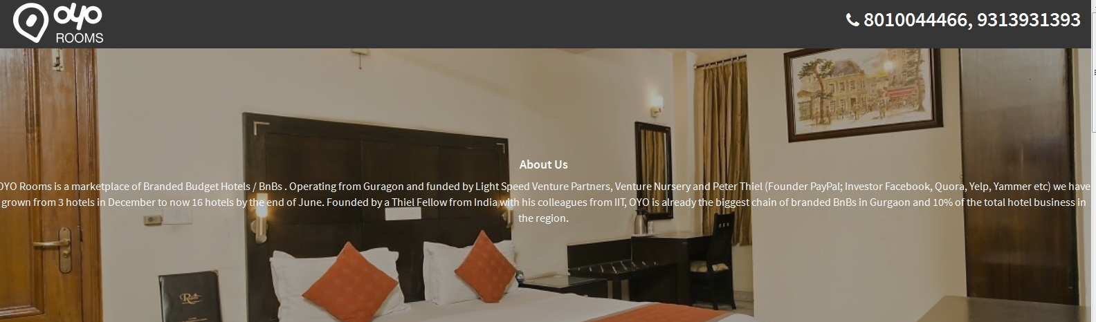 OYO Rooms for budget hotel rooms