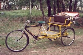 Modified cycle Rickshaws to help pullers
