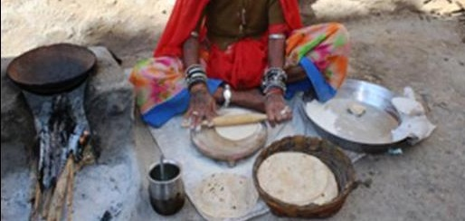 Special flour used by Rajasthan women
