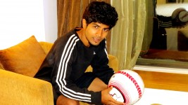 Young boy trying to create India's best under 19 football team