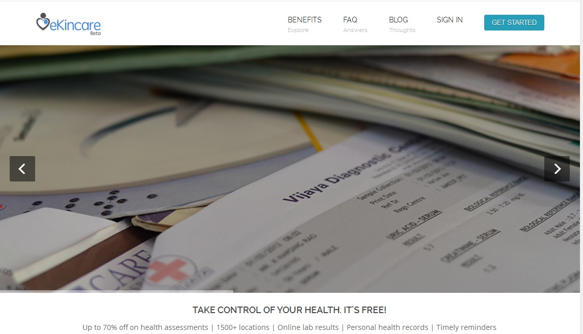 eKincare enables keeping health records online