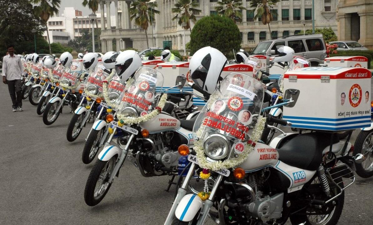 Bike Ambulances reach patients