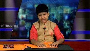visually impaired news anchor