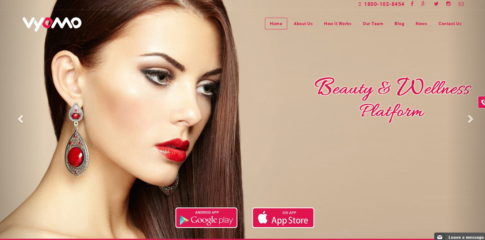 Vyomo - A Beauty and Wellness Platform
