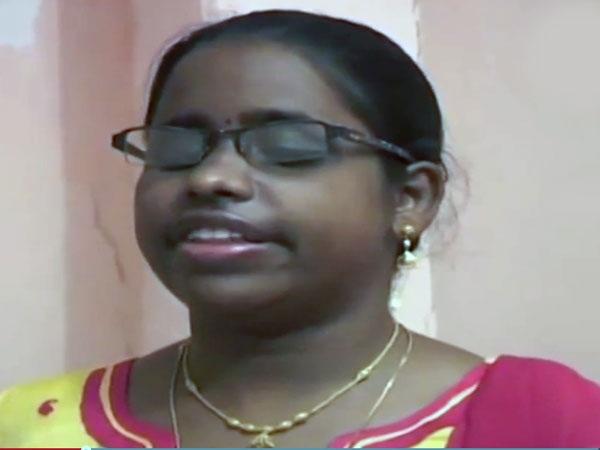 Blind girl cracks IFS