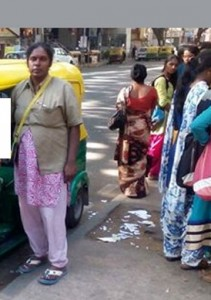 Heroic woman auto driver