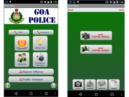 App by Goa police to report emergency crimes