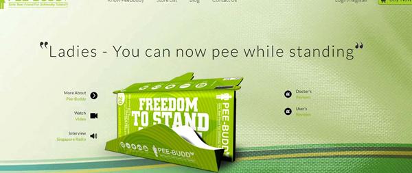 Pee-Buddy helps women in dirty toilets
