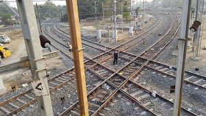 Warning system for unmanned level crossings