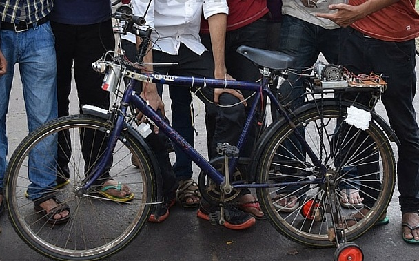 A bicycle that reaches you with an SMS