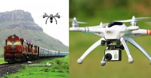 Railway drones which monitor track-laying