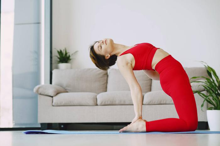 Camel pose for a healthy body