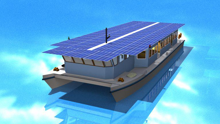 India's First Solar-Powered Boat