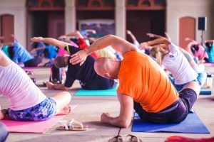 Increase in number of people taking up yoga