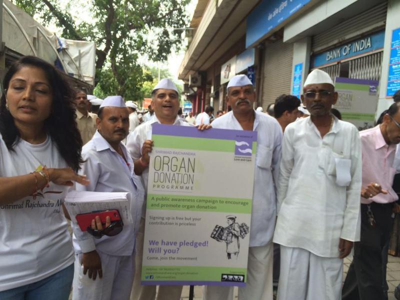 Dabbawalas spread awareness about organ donation