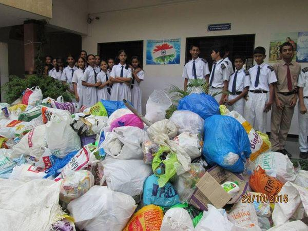 Children recycle 50 tonnes of plastic waste