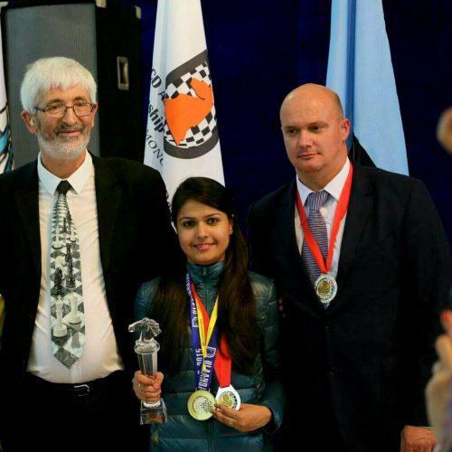 Disable girl becomes international chess champion