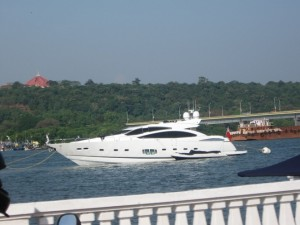 Yacht ride in the Mandovi River