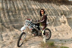 BSF's first all women motorcycle stunt team