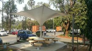 Rainwater harvesting and Solar Energy umbrellas