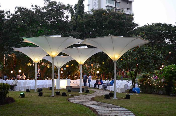 Rainwater Harvesting And Solar Energy Umbrellas Fusion