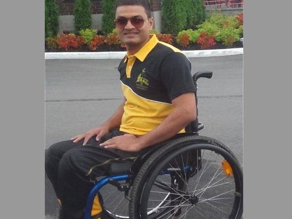 Paraplegic who beat a swimming record