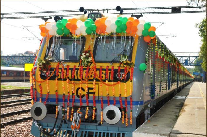 Indian Railway's solar powered train