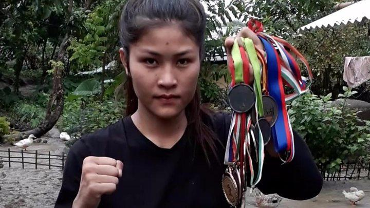Daughter of vegetable seller is now a boxer