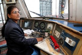 Story of India's first woman train driver