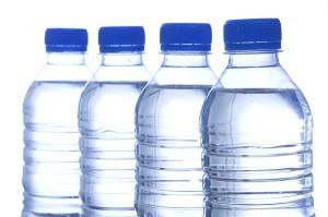 Art from trash water bottles