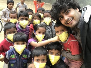 Helping children breath through the Delhi smog