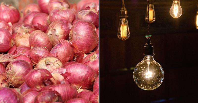 Using onion skin for electricity