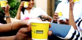 GingerCup – using tea cups for advertising