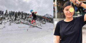 Manali girl gets india's first Skiing medal