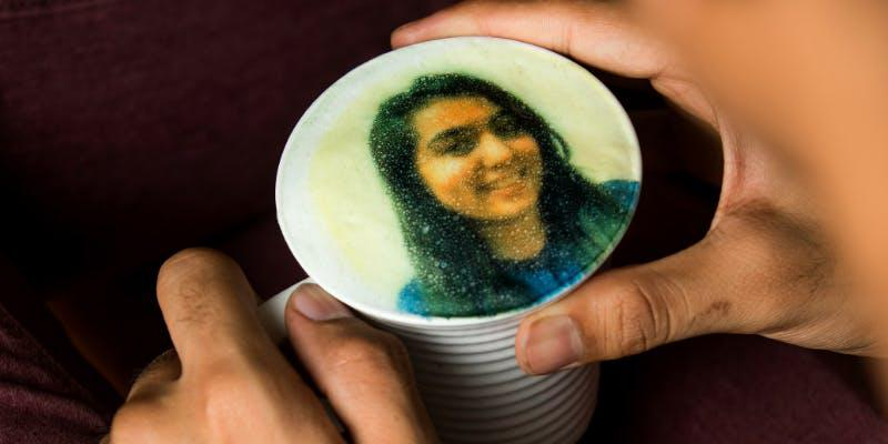 A selfie on your coffee