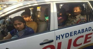 Hyderabad cop helps girl students reach their exam