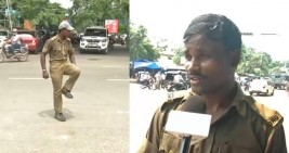 Bhubaneswar traffic cop goes viral with his dance
